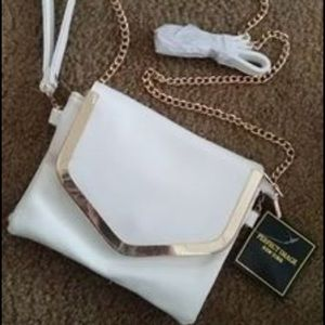 White small crossbody